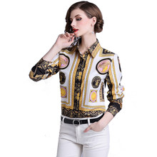 026d2b7e33 THC women long sleeve blouse Floral printed shirt 2019 new arrival women  fashion casual blouse chemise femme Tops And Blouses