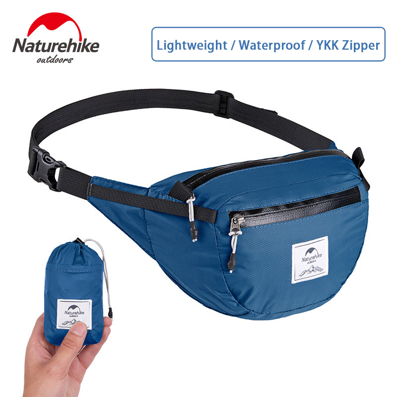 Naturehike Sports Waist Pack Running Bag Unisex Folding Waist Bag Folding Multi-function Waterproof Lightweight Chest Pack