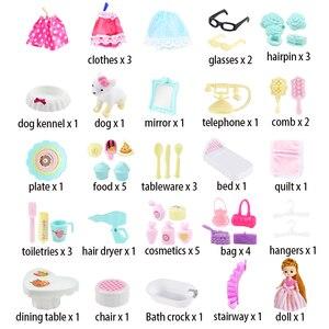Image 5 - Bolso de Casa de Diy para muñecas, muebles, accesorios en miniatura, linda casa de muñecas, regalo de cumpleaños, figura para casa de juguete, muñecas, juguetes para niños
