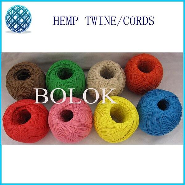 12 видов цветной вощеный и окрашенный пеньковый шнур(8 шт./лот) пеньковый Канат, 1 мм шпагат 100 м/мяч используется во всех видах упаковки