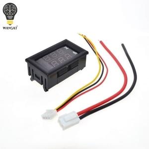 Image 3 - Цифровой вольтметр Амперметр постоянного тока 0 100 в 10 А, двойной дисплей, детектор напряжения, измеритель тока, панель Ампера, вольтметр, 0,28 дюйма, красный, синий светодиод