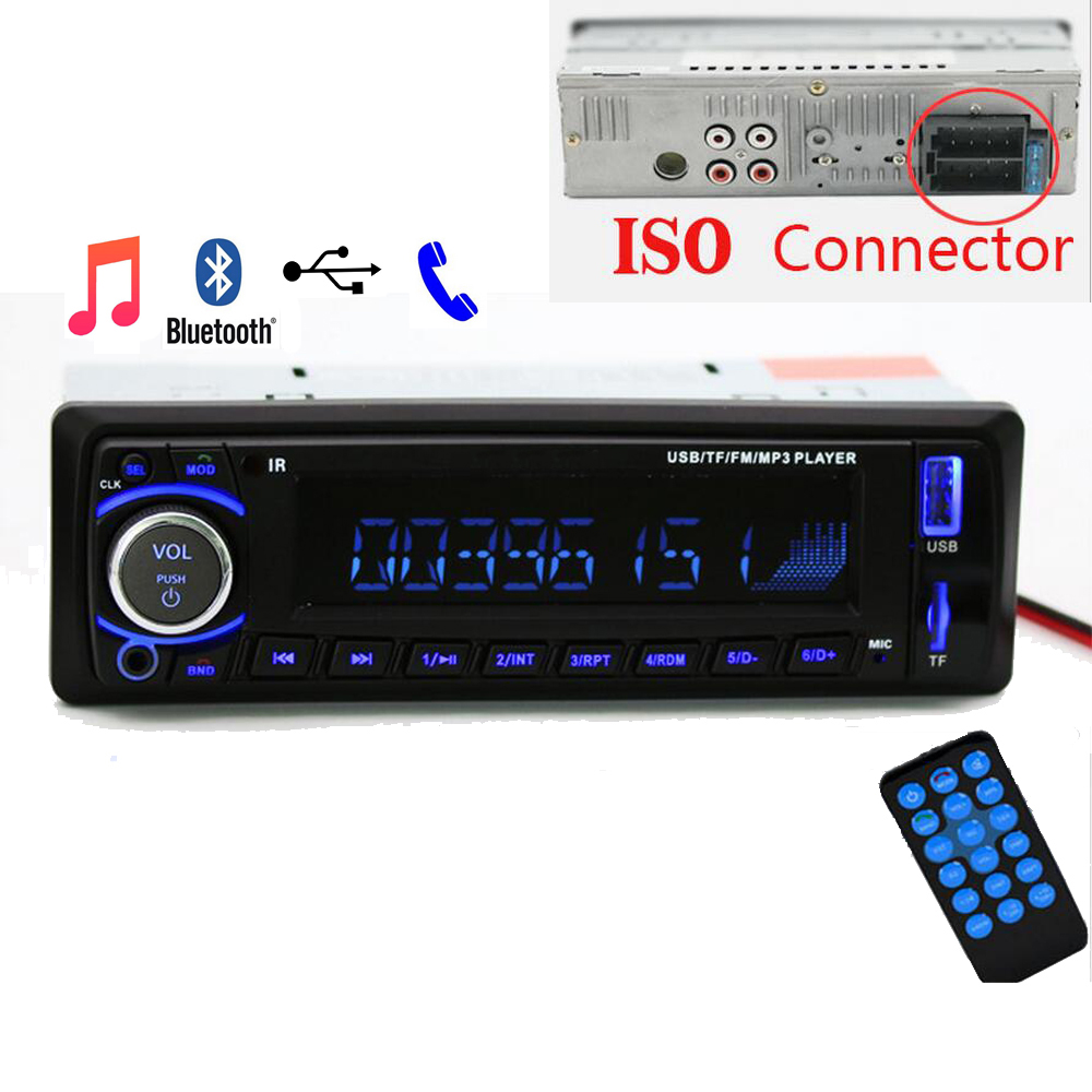 Auto radio Car Radio 12V Bluetooth V2.0 SD USB MP3 WMA Car Audio Stereo In dash 1 Din FM Aux Input Receiver