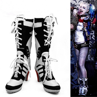 Suicide Squad Cosplay Joker Harley Quinn Boots High Heeled Shoes For Adult Women Custom Made