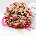 Artificial Bruidsboeket Wedding Bouquet for Brides Ribbon Flower Girl Bouquet 2017 bridal Bouquet bridesmaid Bouquet for wedding