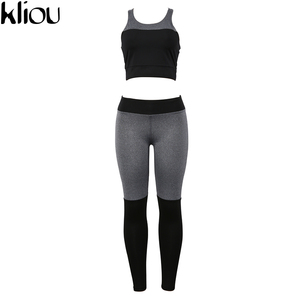 Image 4 - Casual Sporting Tracksuit Women 2 Piece Set Fitness Clothes Workout Sportswear High Waist Leggings And Bra Suit