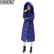 Winter Down Jacket Coat 2018 Korean Fashion Women s Long Thicken Down Cotton padded Jacket Hooded