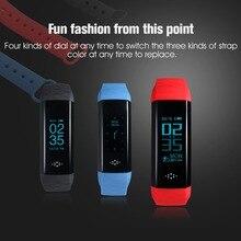 M2S smart bluetooth браслет Heart Rate крови Давление крови кислородом Monitor Группа фитнес-трекер часы Touchpad OLED