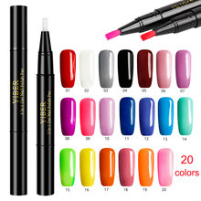 One Step Unhas de Gel Polonês Caneta Manicure UV Unhas de Gel Verniz Caneta Unhas Arte Lápis 20 Cores Opcional Fácil usar Caneta Polonês Gel