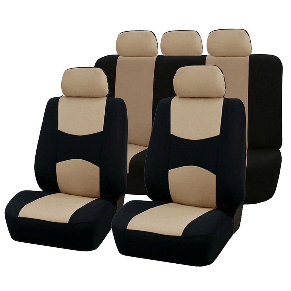 9PCS Automobiles Seat Covers Full Car Seat Cover Universal Fit Interior AccESSories Protector Car-Styling