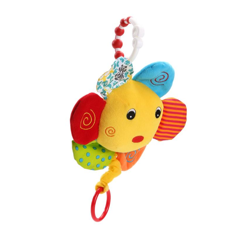 Baby Plush Rattle Bell Plush Toy Baby Rattle Toy Animals Stroller Decoration Cartoon Hand Bell Doll Funny Toys