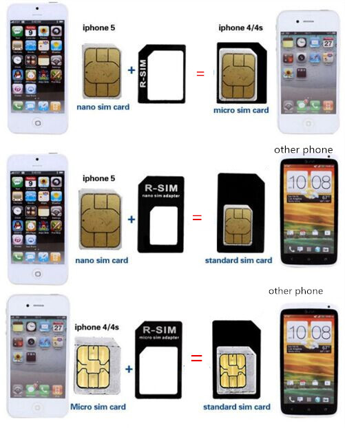 Free Shipping Nano SIM Card Adapter Micro Multi Sim +dual ...