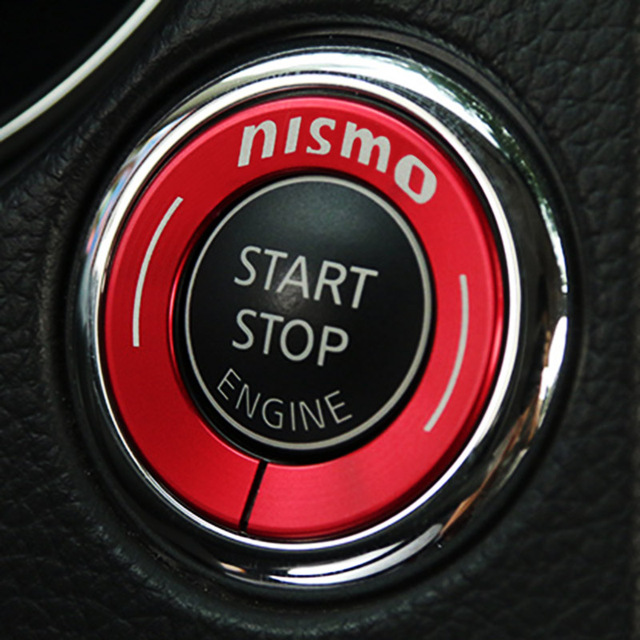 Metal car key ignition switch hole decal auto start stop engine button sticker for nissan nismo