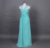 Turquoise Bride dress Wedding dress Chiffon Wedding reception women's dress Bride's party Dress Custom Size Color d75