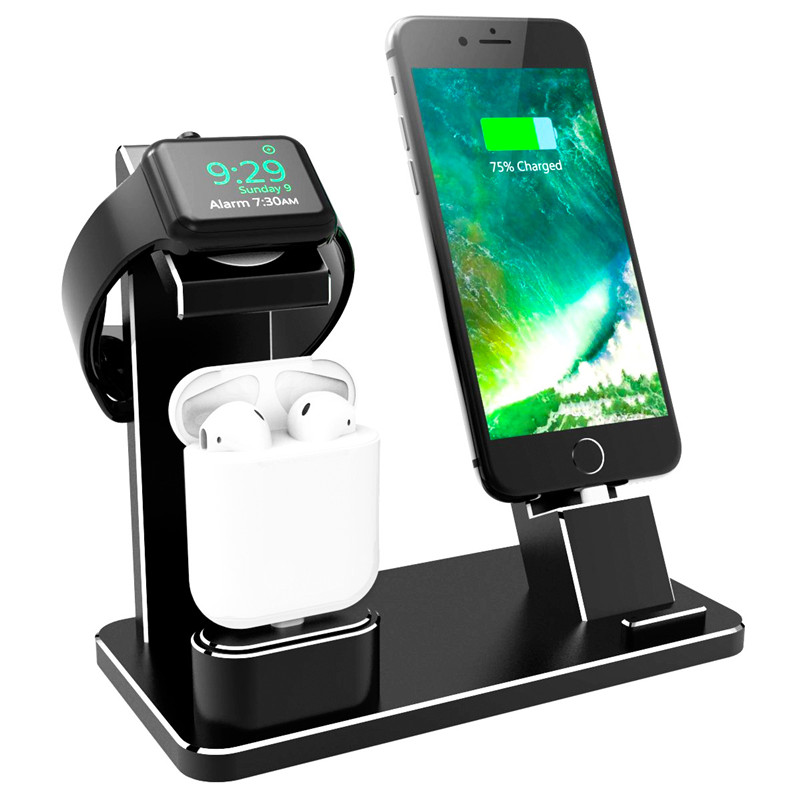 Mindzo Station de chargement Station support pour AirPods IPad Air Mini Apple montre 38mm 42mm iPhone X XR XS MAX 8 7 Plus