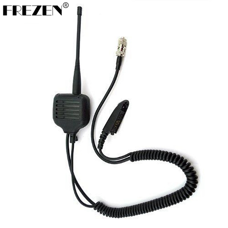 Speaker Mic For Motorola Walkie Talkie Radios GP328 GP340 GP360 GP380 With UHF/VHF Antenna