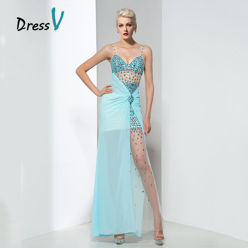 Sky Blue Long Prom Dress