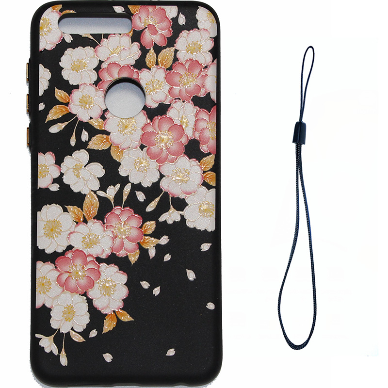 3D Relief flower silicone case huawei honor 8 (1)