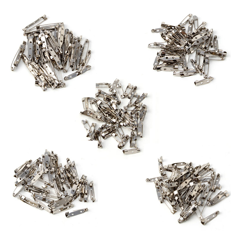 50PCS Brooch Clip Base Pins Accessories Jewelry Decorative Ally 15 To 40mm W715 50pcs tip107 to 220