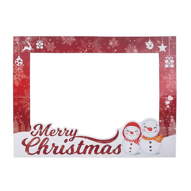 1pc Family Christmas Picture Frame Prop Selfie Photo Booth Photo