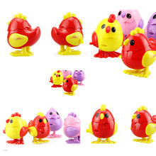 1pcs Wind Up Chicken Toys Baby Gifts Children Kids Educational Chick Toys Clockwork Jumping Chicken Classic Toys Color Randomly(China)