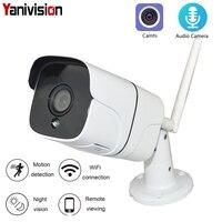 Metal WiFi IP Camera Bullet Outdoor Waterproof IP66 1080P Wireless CCTV Two Way Audio Memory Card Motion CamHi Onvif P2P