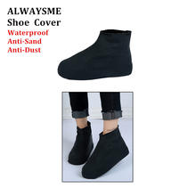 ALWAYSME Men Women's Children Waterproof Anti-Dust Anti-Sand Shoes Covers Thicker Non-Slip Platform Rain Boots Heels Shoe Cover(China)