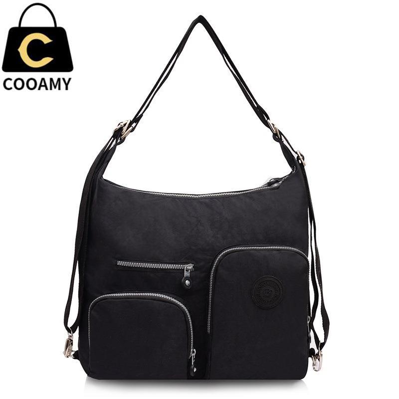 Женские нейлон сумки на плечо сумка моды нейлон одноцветное сумка Bolsas Femininas леди Crossbody сумки для женщин