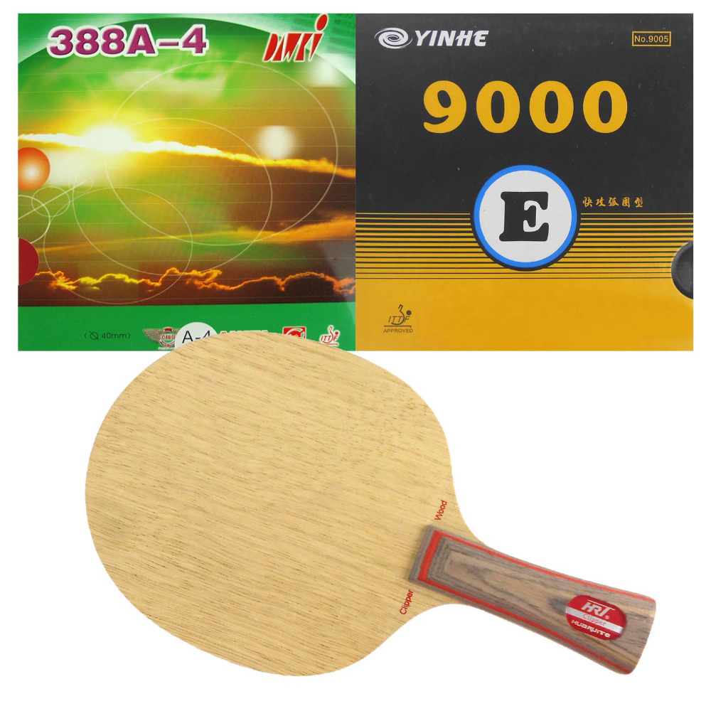 Pro Table Tennis (PingPong) Combo Racket: HRT 2091 with Galaxy YINHE 9000E/ Dawei 388A-4 Shakehand Long Handle FL  hrt 2091 blade dhs neo hurricane3 and milky way 9000e rubber with sponge for a table tennis racket shakehand long handle fl