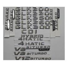 Chrome  GLK 300  Car Trunk Rear Letters Word Badge Emblem Letter Decal Sticker for Mercedes Benz GLK Class GLK300 шильдик nfs glk300 s400l glk300