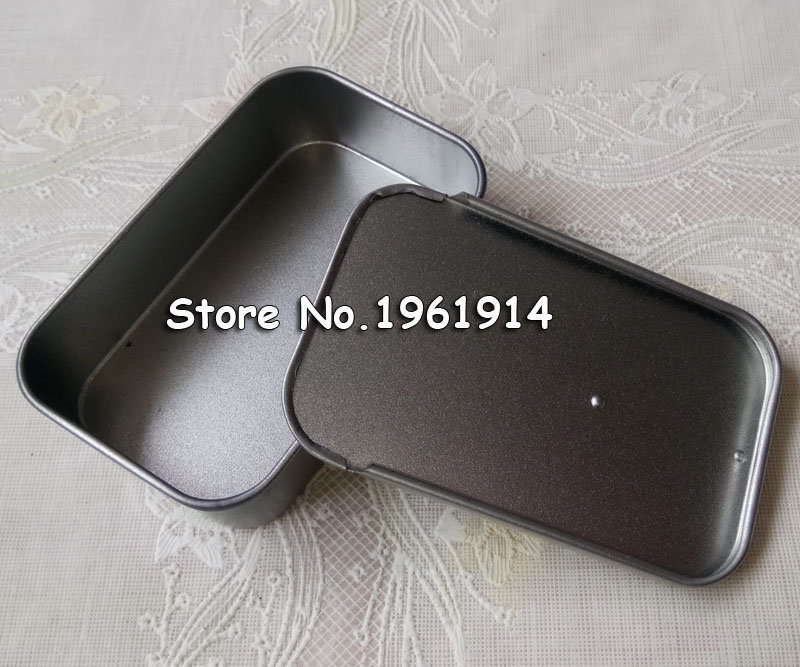 Lots 3 Slide Top Tin Empty Case Sliding Lid Containers Small Storage Kit