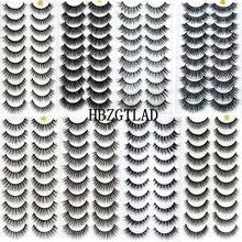 جديد 300 Pairs ثلاثية الأبعاد لينة المنك الشعر الرموش الصناعية الطبيعية طويلة رمش متقاطع Wispy رقيق جلدة تمديد أدوات ماكياج العين