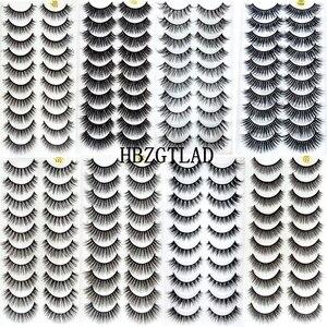 Image 1 - Nieuwe 300 Pairs 3D Zachte Nertsen Haar Valse Wimpers Natuurlijke Lange Wimpers Criss Cross Piekerige Pluizige Wimpers Extension Eye makeup Tools
