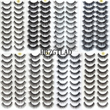 ¡Nuevo! 300 pares de pestañas postizas de pelo de visón suave 3D pestaña larga Natural criss cross Wispy pestañas tupidas extensión utensilios de maquillaje para ojos