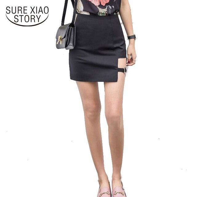 6d4b2975032248 2018 nouveauté jupe crayon noire été automne taille haute jupes femmes  serré Sexy Mini rouge 166G 30