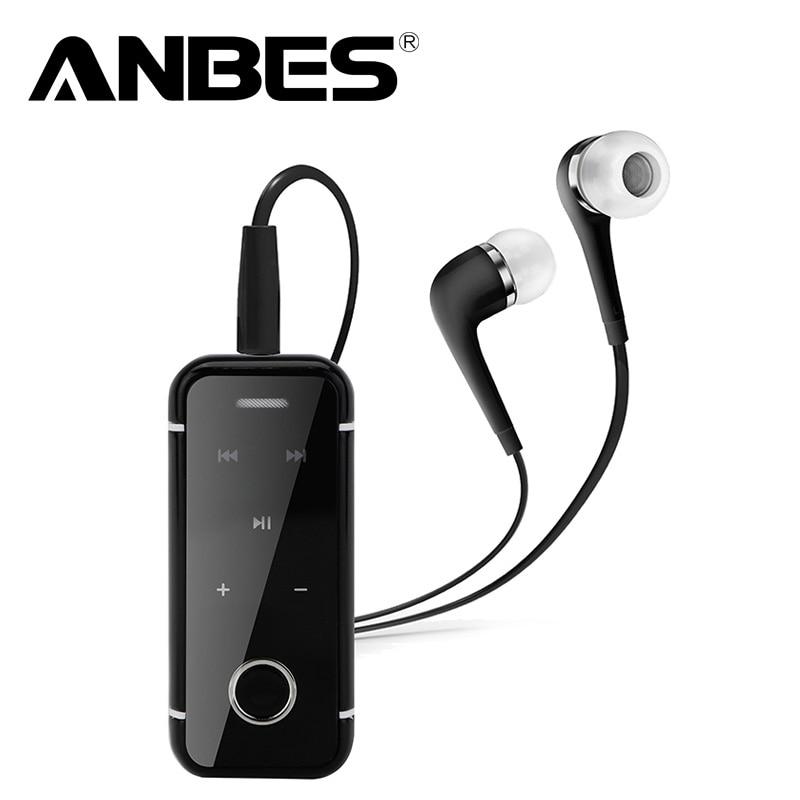 bilder für ANBES Clip Auf Wireless Bluetooth Headset Kopfhörer Sport Stereo Musik Auriculares für Xiaomi Samsung iPhone Laptop