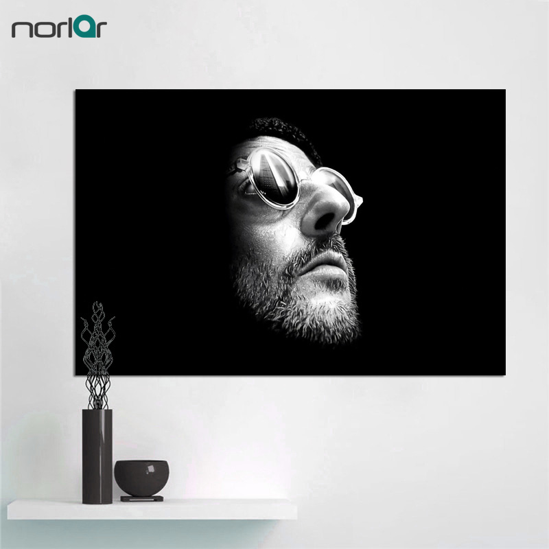 Big Size canvas painting HD Printed Leon The Professional Movie Poster Canvas Printing Decor Wall Art For Living Room Wall