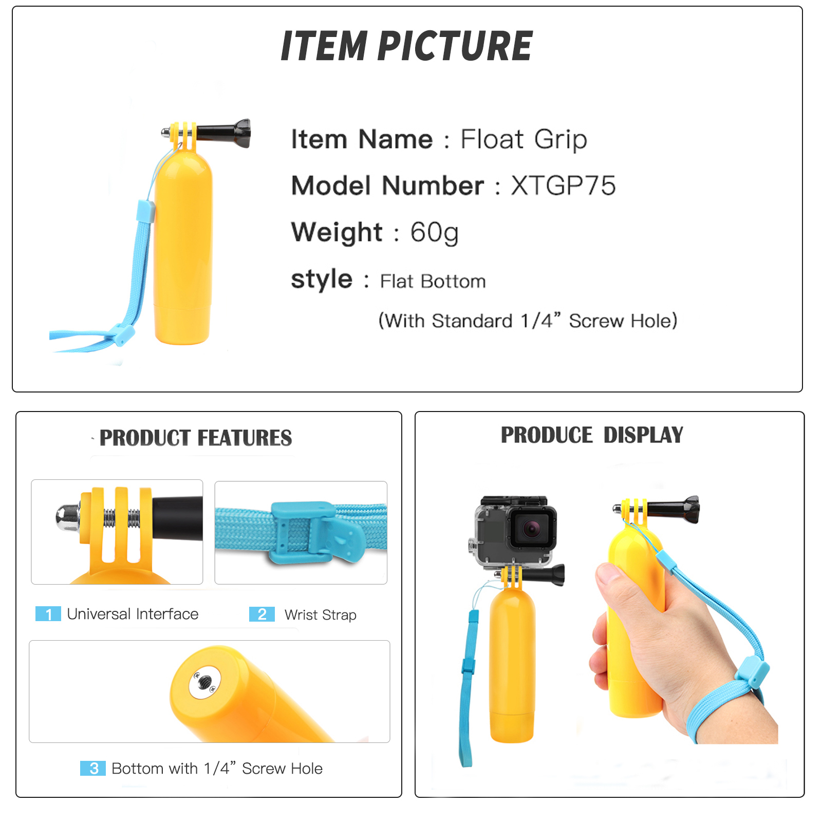 Image 5 - SHOOT for GoPro Action Camera Accessories Set Monopod Mount Set for Go Pro Hero 7 6 5 Xiaomi Yi 4K SJCAM SJ5000 SJ7 Eken H9 Cam-in Sports Camcorder Cases from Consumer Electronics
