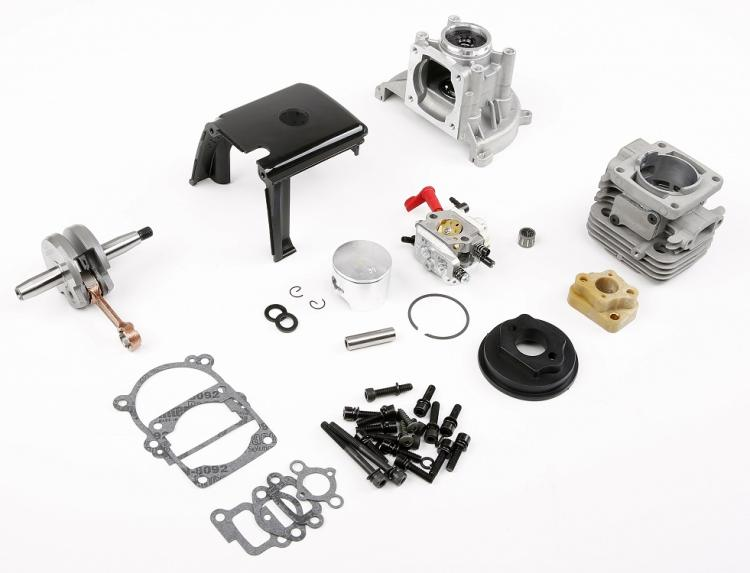Baja Losi Engine 23cc 26cc 29cc 30.5cc up to 36cc Conversion Kit walbro W1107 clutch cover crankshaft cylinder piston flywheel 27 5cc 2t 4 bolt gasoline engine walbro 668 carburetor ngk spark plug 7000 light clutch fits hpi baja 5b losi 5ive t redcat
