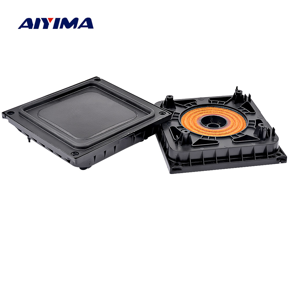 AIYIMA 2PCS Bass Radiator Passive Radiator Speaker Rubber Diaphragm Vbration Plate 100*92MM For Pill XL Bluetooth Speaker DIY