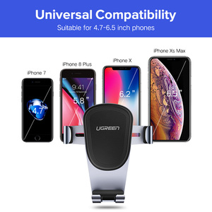 Image 4 - Ugreen Car Phone Holder for iPhone XS MAX XR X 7 Gravity Air Vent Mount Holder For Xiaomi Cell Mobile Phone holder Stand in Car