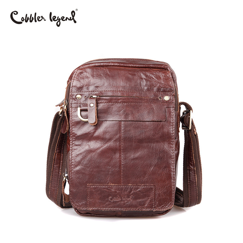 Cobbler Legend Brand New Genuine Leather Shoulder Bag Zipper Men Messenger Bags Designer Men Commercial Briefcase CrossBody Bag deelfel new brand shoulder bags for men messenger bags male cross body bag casual men commercial briefcase bag designer handbags
