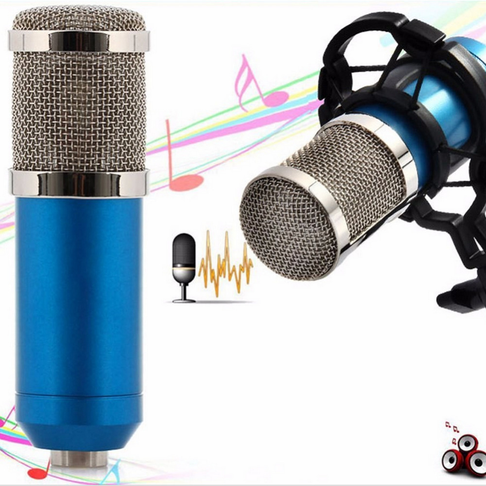 Microfone BM800 Condenser Wired Microphone for Computer Network sing/Recording/Chat/Video Conference/Games microfone condensador