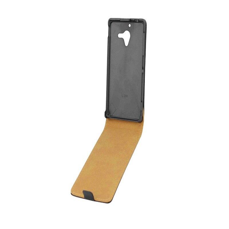 0eb9d2a56c Vertical PU Leather Flip Case For Sony Xperia ZL L35H C6502 C6503 Cover