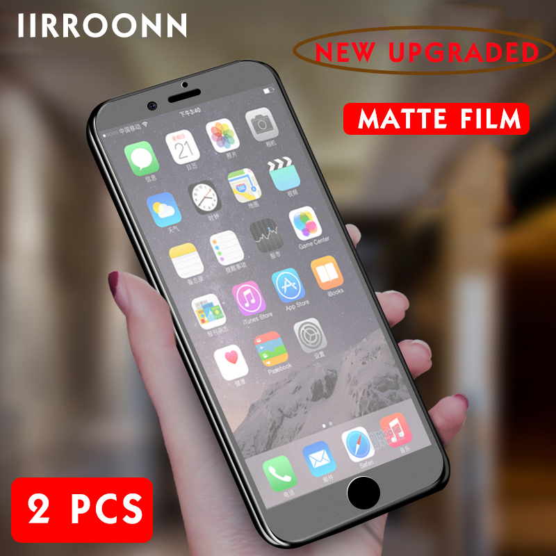 2Pcs/lot Matte Tempered Glass For iphone 6 s plus Screen Protector For iphone 6 plus 6 splus