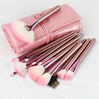 BBL 22pcs Brushes Leather Bag For Makeup Foundation Powder Eyeshadow Face Brush Contour Makeup Brushes Brochas