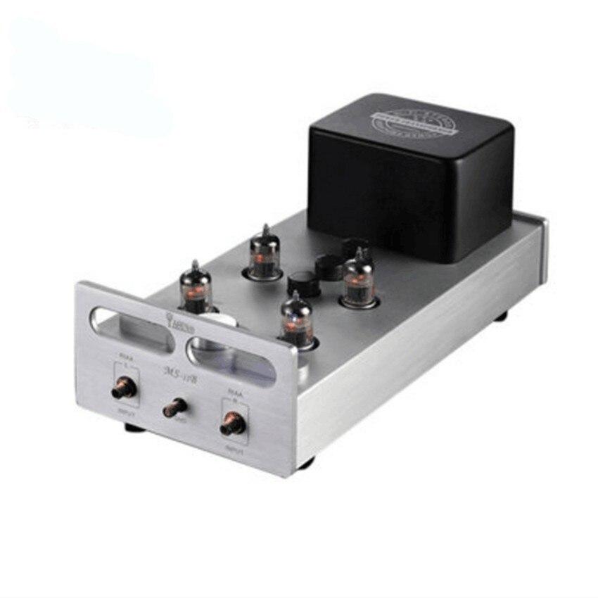 YAQIN MS-12B Ламповый фонокорректор pre-AMP мм RIAA проигрыватели Hi-Fi стерео предварительно усилитель ламповый Усилитель 110-240 В