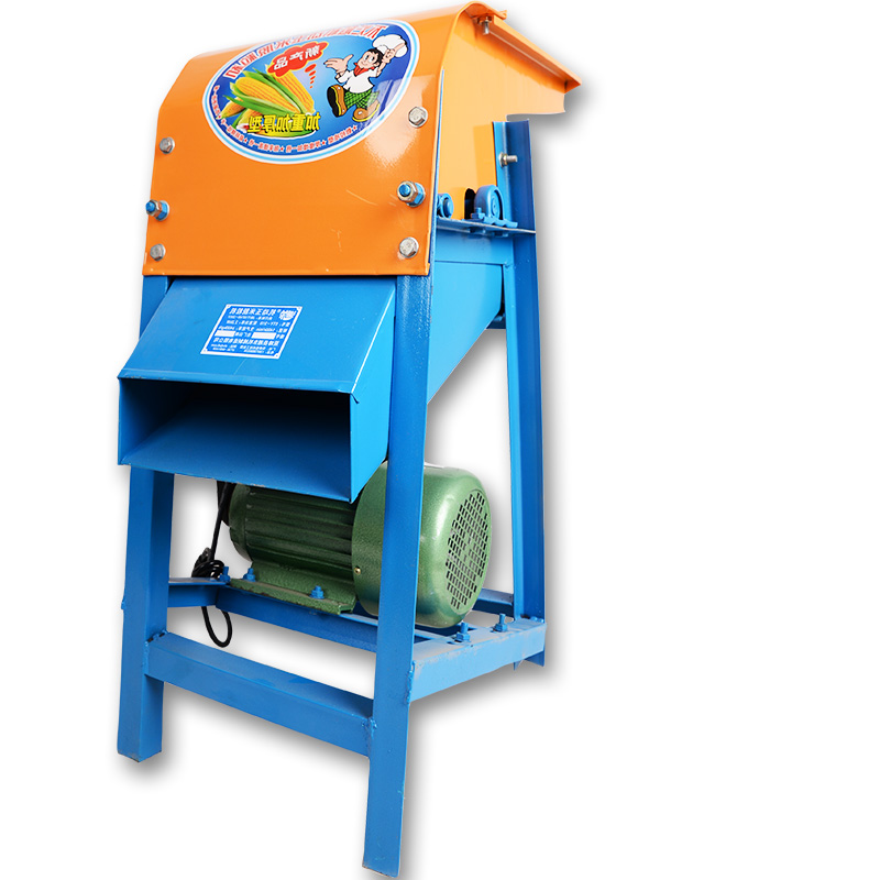Vertical Corn Thresher / Household Electric Small Automatic 220v Thick Corn Stripper Straw Corn Crusher  Feed