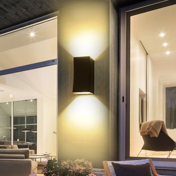 up down 6w 10w led cob wall fixture light outdoor indoor lamp waterproof ip65 bedroom balcony 10W/20W LED COB Wall Sconce Light Fixture Up/Down Outdoor Lamp Waterproof Yard Black Shell
