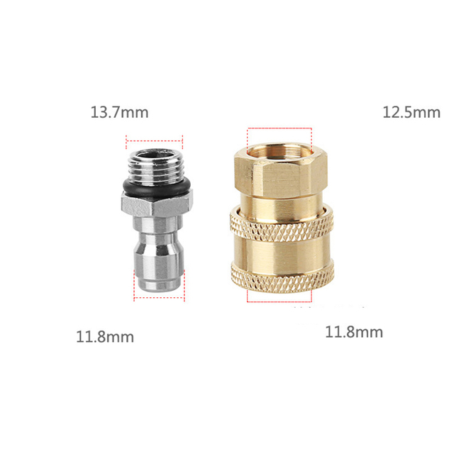 High Pressure Water Gun Connector 1/4 Quick Connector M14*1.5 Pure Copper High Pressure Sprinkler