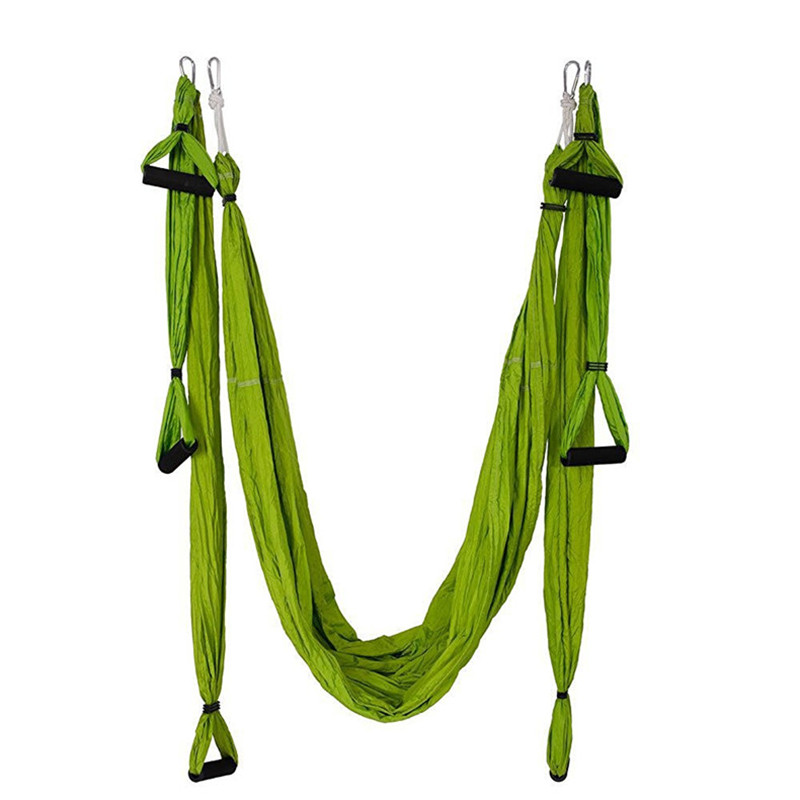 NEW Yoga Hammock Swing Set daisy chain Parachute Fabric Inversion Therapy High Strength Decompression Hammock Yoga Gym Hanging